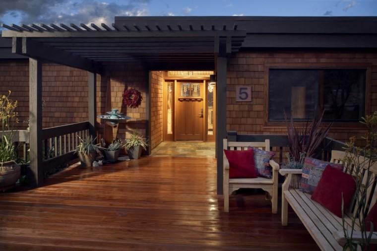 pérgola madera porche plataforma madera