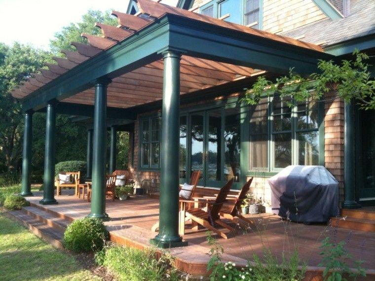 Pergolas jardin de madera una zona de recreo ideal - Pergolas de metal ...