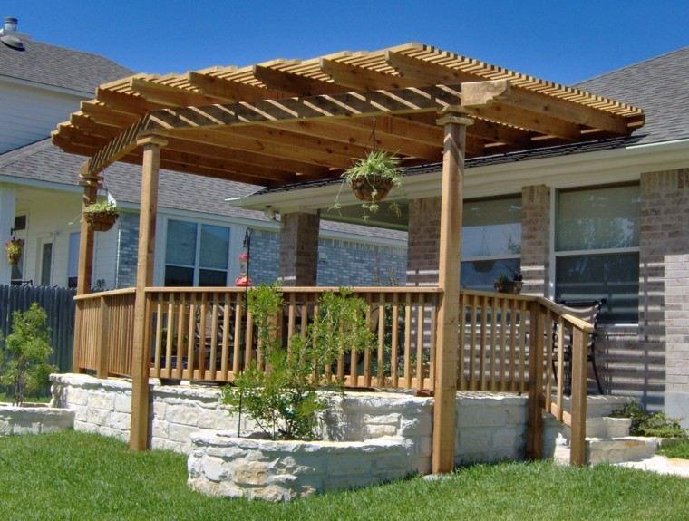 pergolas jardin caseta porche madera