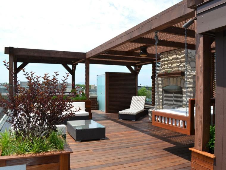Pergolas jardin de madera una zona de recreo ideal - Maderas para terrazas ...
