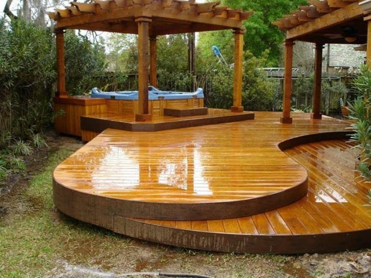 pergolas madera brillo jacuzzi plataforma