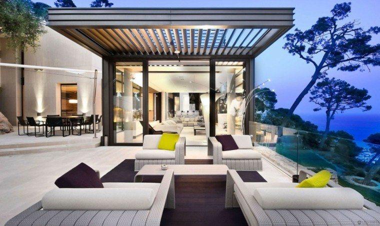 pérgolas terraza patio metal modernas
