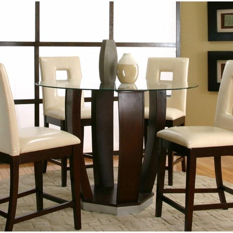 Mesas de comedor y sillas de comedor ideas excepcionales for Sillas modernas de madera tapizadas