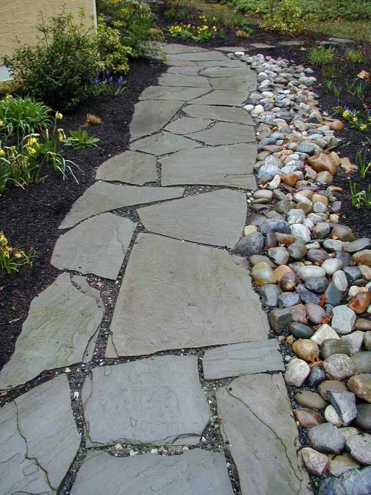 piedras de jardin camino rocas