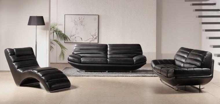 piel moderno sofa estilo plantas