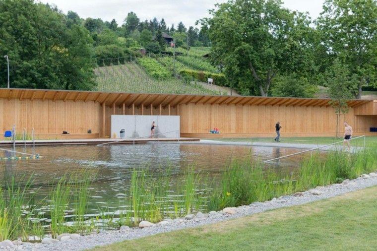 piscina estanque filtro natural hierba