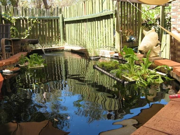 piscina estanque pequeño jardin bio