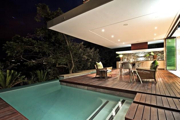 piscina plataforma madera teca sillas