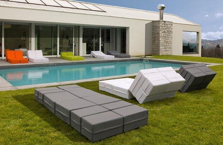 piscinas modernas ideas muebles casa tumbonas bonitas