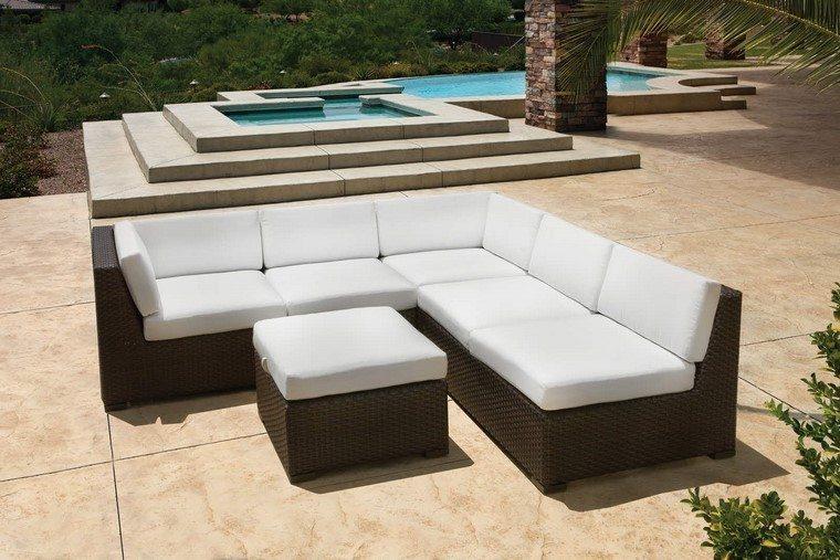 piscinas muebles cojines blancos ideas muebles