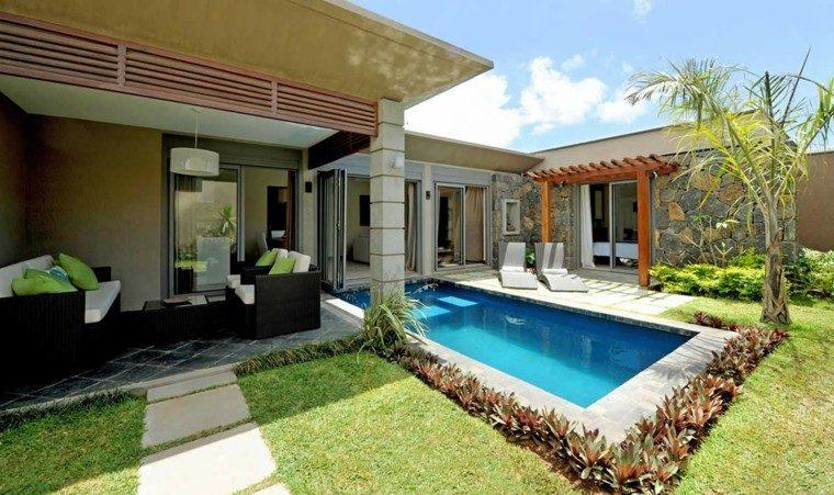 piscinas para jardin exterior moderna plantas