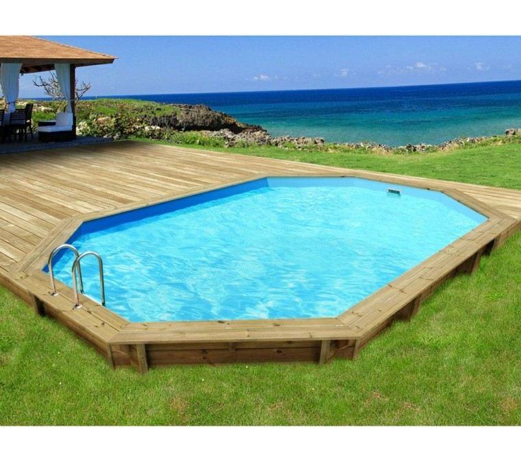 Piscinas para jard n un oasis en tu hogar for Madera para piscinas