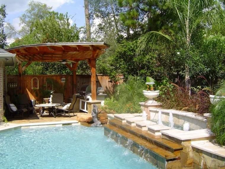 piscinas y pérgolas de madera jardin muebles exterior