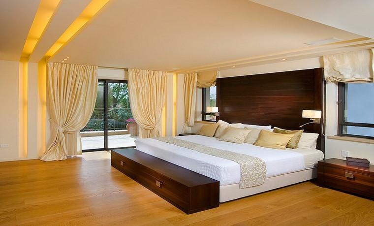 piso madera cortinas lazos calida