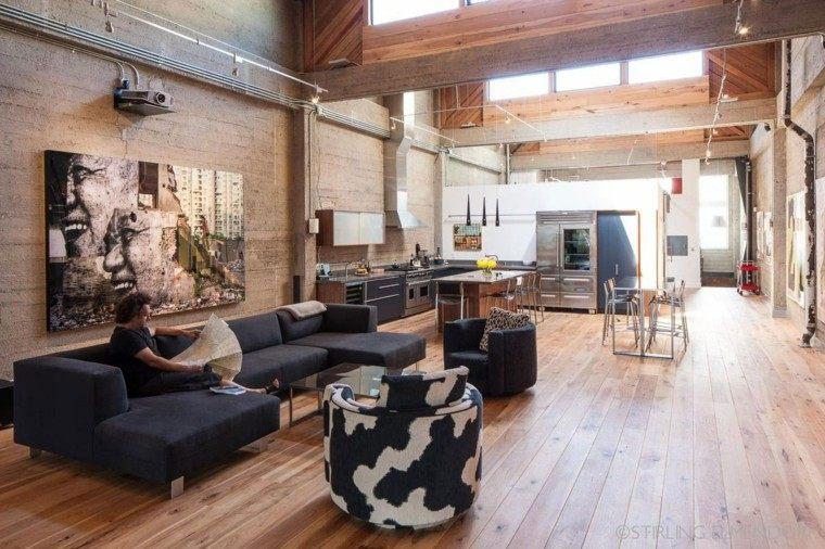 piso soltero amplio zonas abiertas ideas modernas hogar