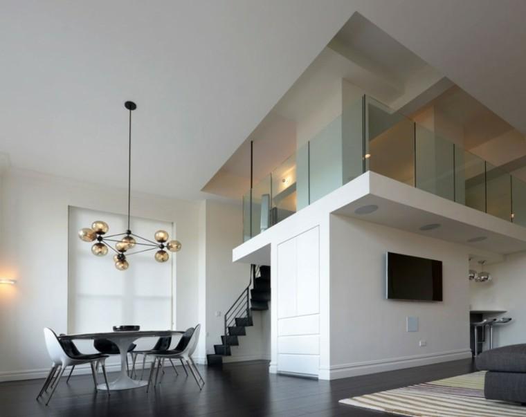 Sala de estar para apartamento de soltero todo un lujo for Decoracion escaleras duplex