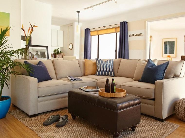 Pisos de solteros ideas para decorar tu nuevo hogar - Decorar pared sofa ...