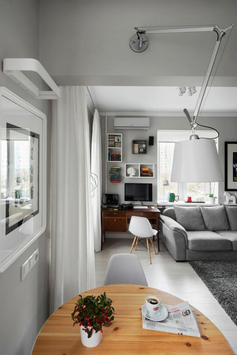 piso soltero salon comedor ideas escritotio moderno