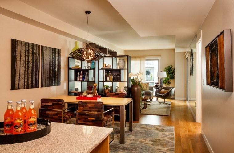 pisos soltero abierto cocina comedor salon ideas moderno