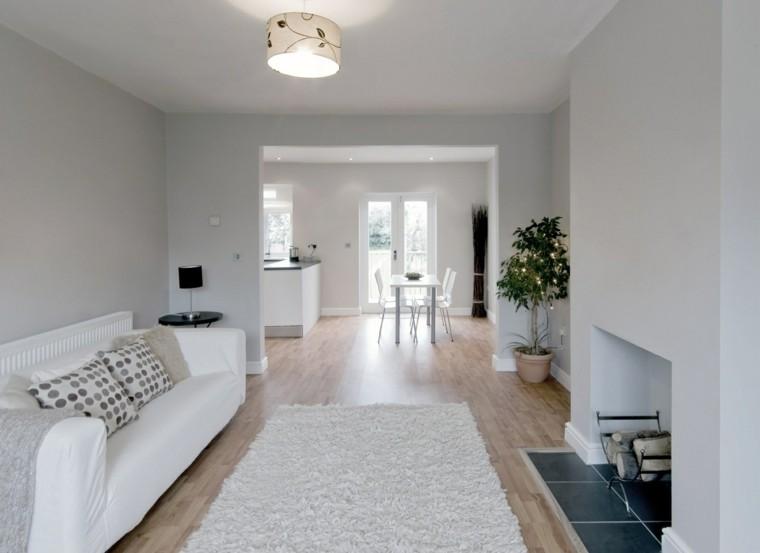 pisos soltero ideas blanco pocos muebles sutil
