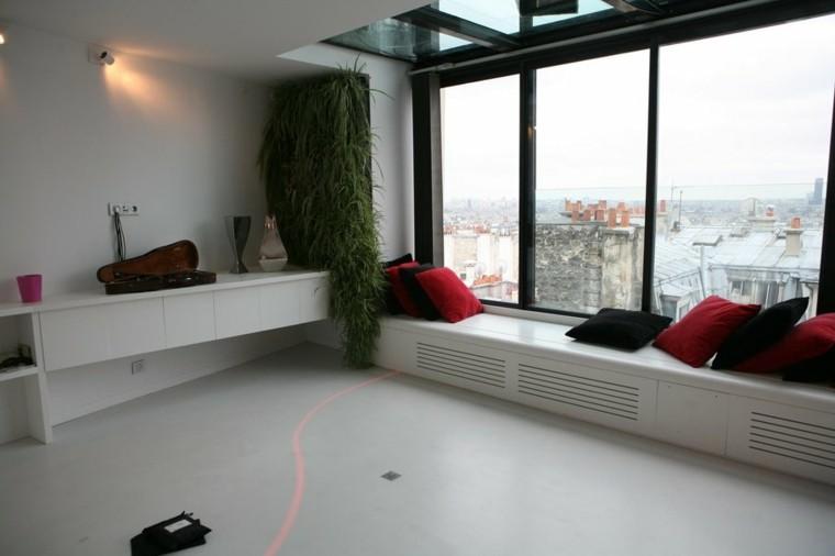 planta sol cascada vidrio moderno
