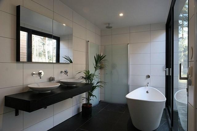 plantas macetas bañera lavabo bañera blanca