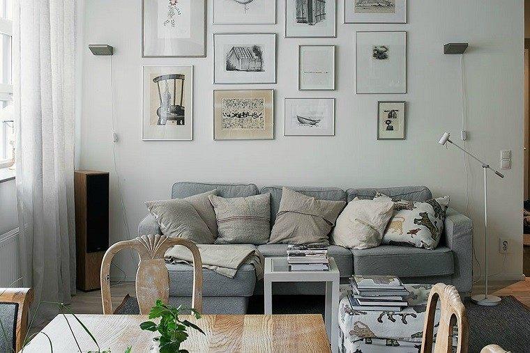 plantas mesa cuadro cortinas sillas
