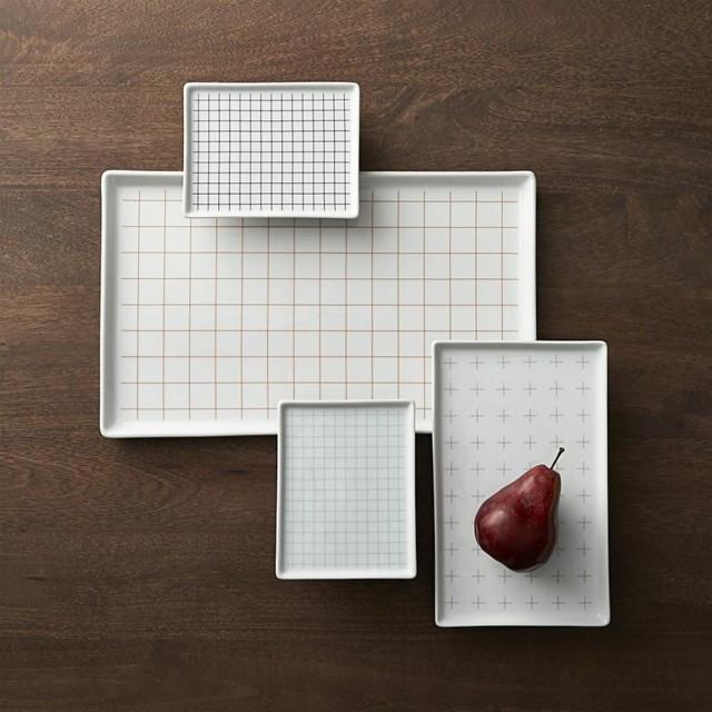 platos forma geometrica cuadrado color blanco bonito ideas