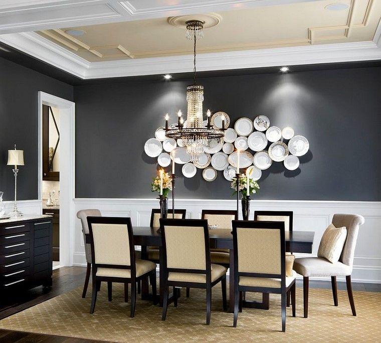 platos mesa decoración muebles pared