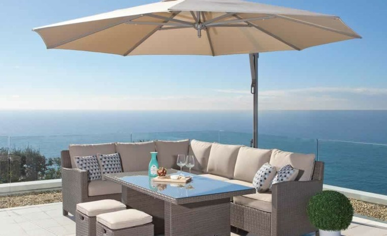 Parasoles jardin sombras refrescantes para el verano - Sombrilla de terraza ...