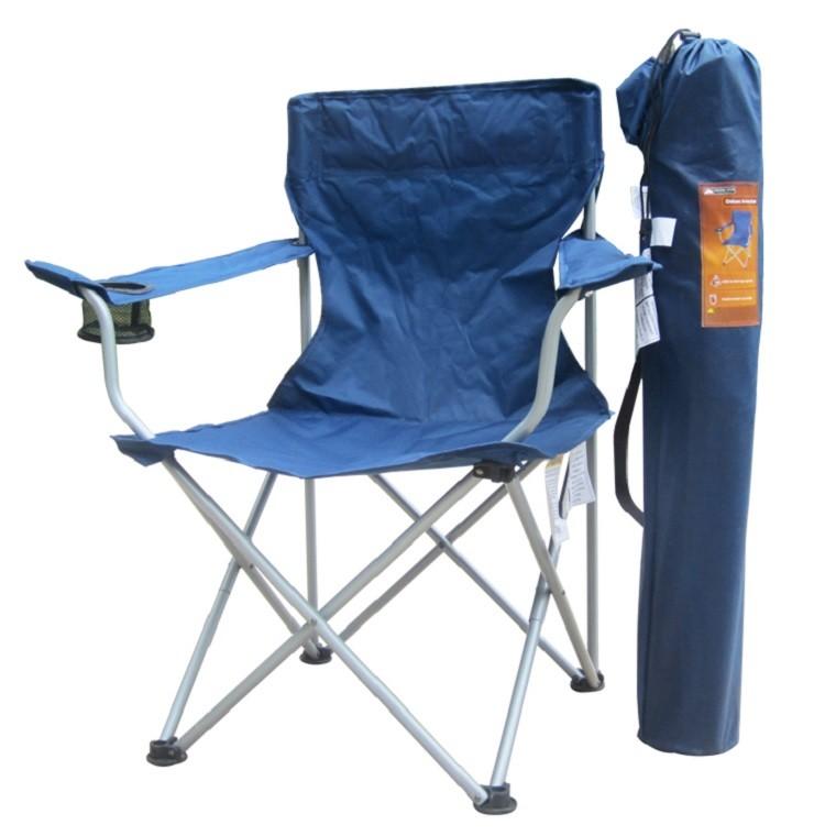 plegable azul silla soporte vaso ligera