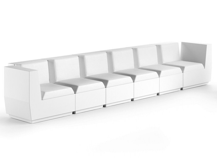 plust chocolate blanco sofa futurista