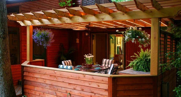 Pergolas jardin de madera una zona de recreo ideal - Pergolas para jardines ...