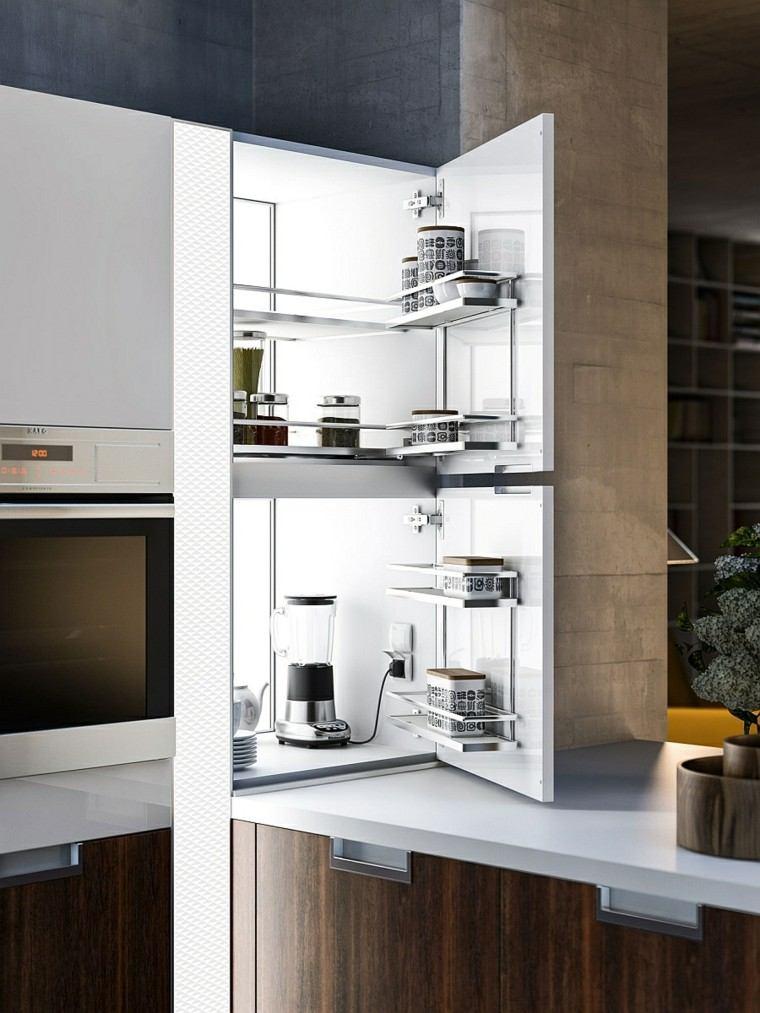prácticas soluciones cocina armario ideas moderna