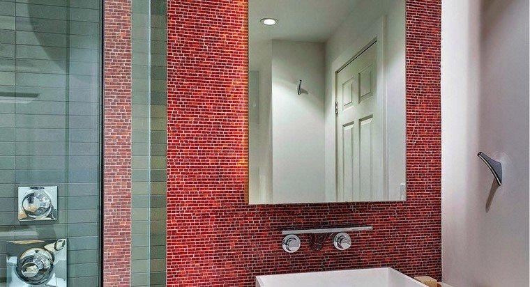 precioso azulejos rojos ideas modernas moderno baño