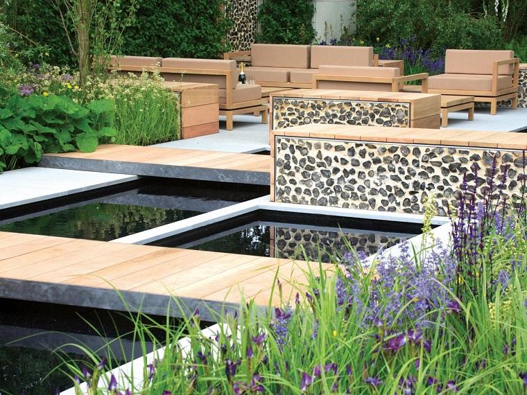 puente piedras plantas muebles terraza