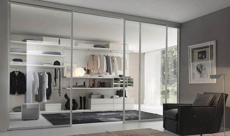 puertas transparentes armario abierto moderno ideas originales