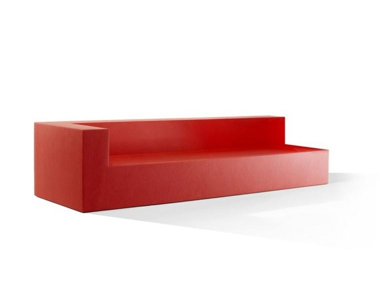quinze banco moderno rojo rigido