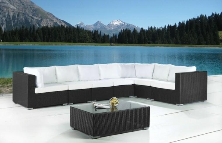 ratan extralargo sofa diseño ele