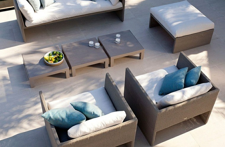 Reciclar y mobiliario de jardín- ideas en la colección Terra.