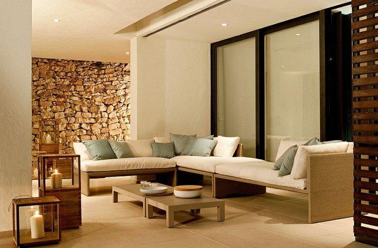 reciclar y mobiliario de jardín sofa patio rocas