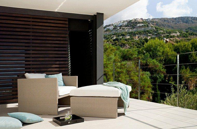 reciclar y mobiliario de jardín terraza plantas moderno