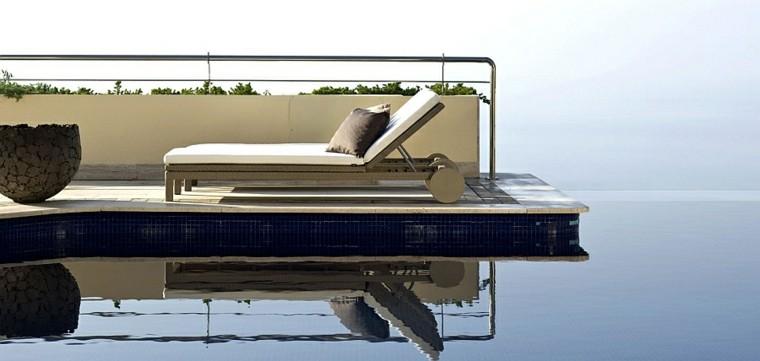 reciclar y mobiliario de jardín tumbona macetas piscinas plantas