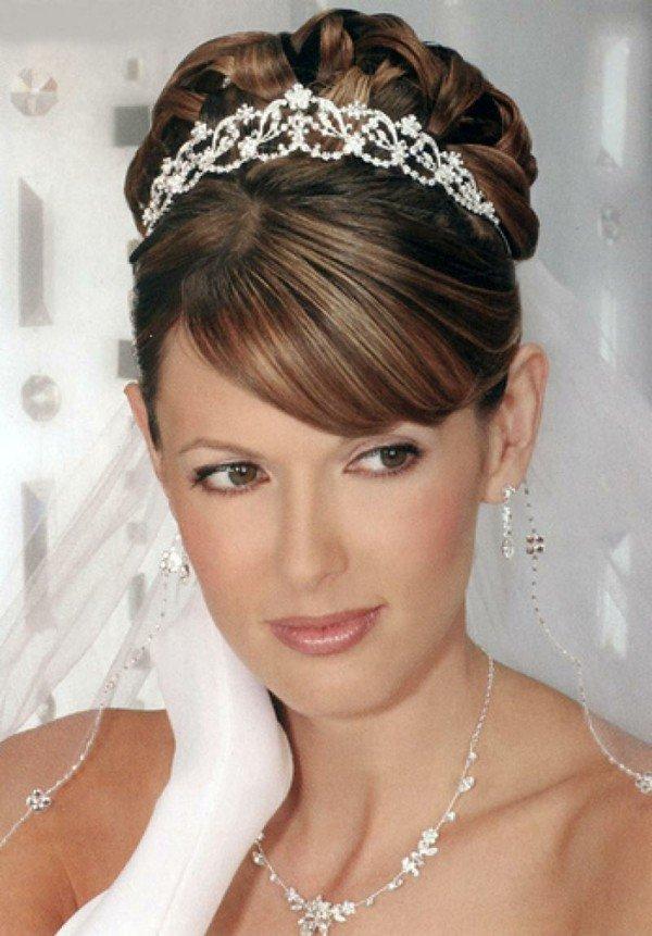 recogido mechas novia peinado diadema