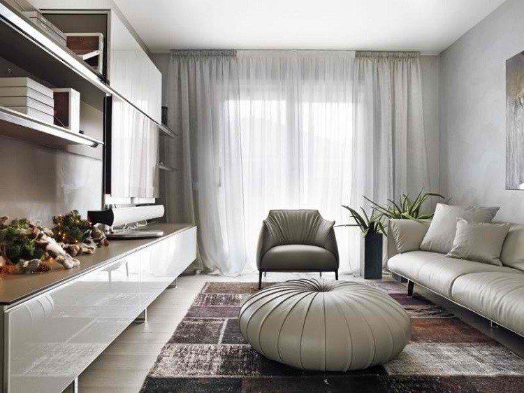 redondo mobiliario alfombra cortina plantas
