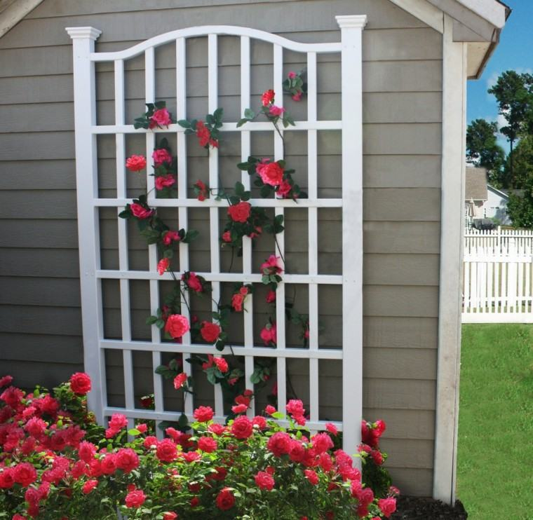 rejas blancas madera blancas pared casa ideas