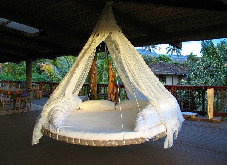 relax cama colgante aire libre moderno diseño