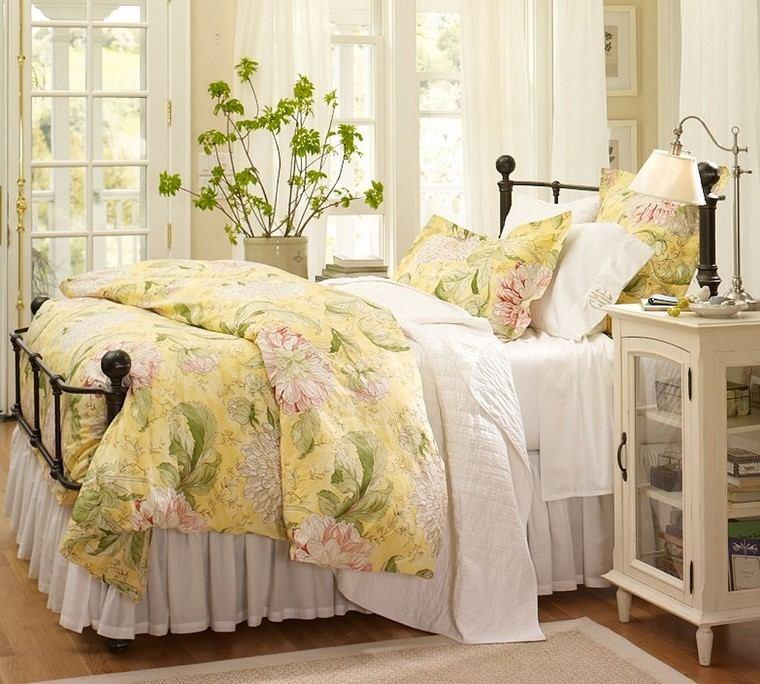 relax cojines cama ropa estampados ideas florales