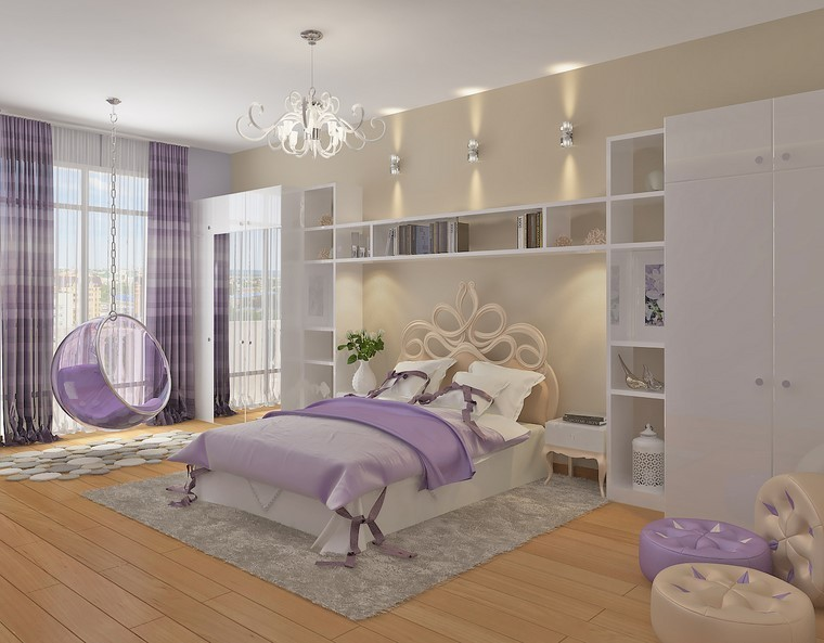 relax dormitorio cama increible purpura moderna