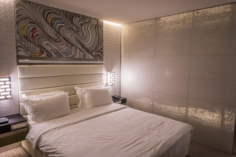revestimiento de paredes hormigo hotel dormitorio idea